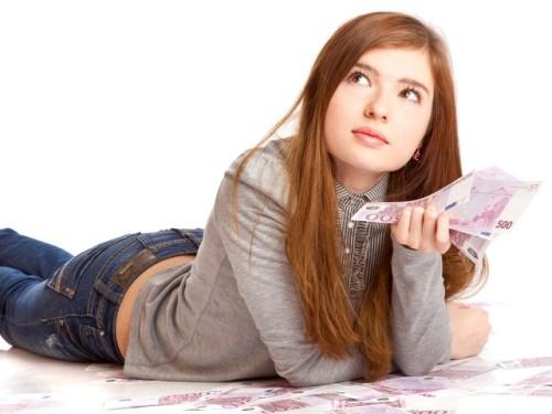 Девочка мечтает потратить деньги