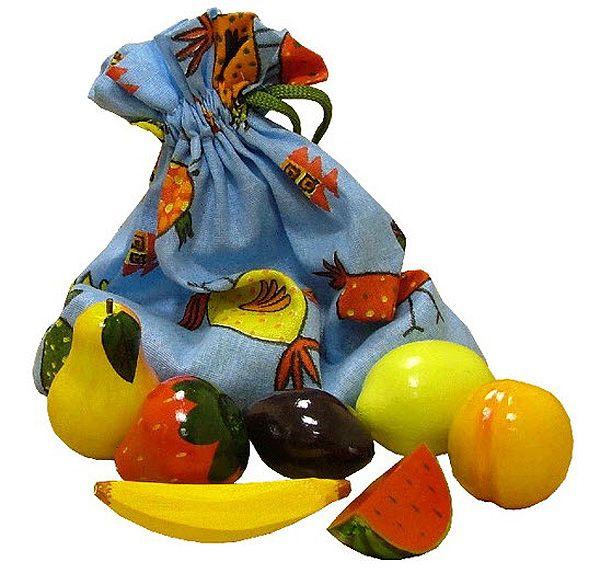 """Игра """"Чудесный мешочек"""" - угадай фрукт на ощупь"""
