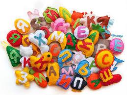Мягкие игрушки для изучения алфавита