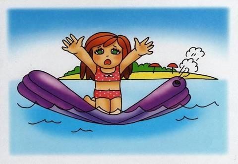 Нельзя оставлять детей один в воде, даже с кругом и матрасом