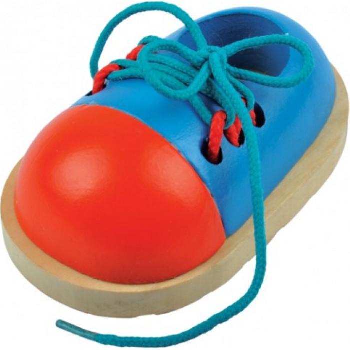 Обучающие игрушки: ботиночек на шнуровке