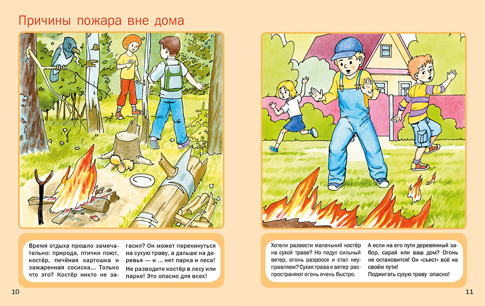 Пожар на природе