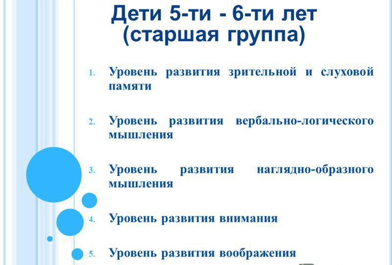 Мониторинг развития в 5-6 лет