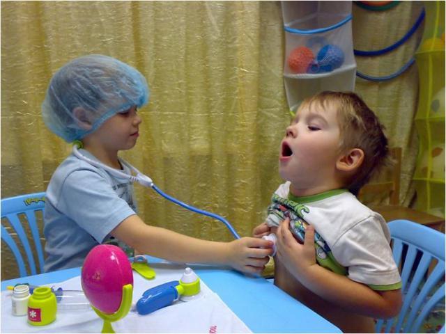 Сюжетно-ролевая игра с больницу