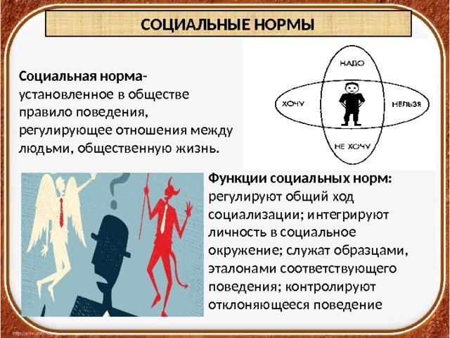 Определение социальный норм