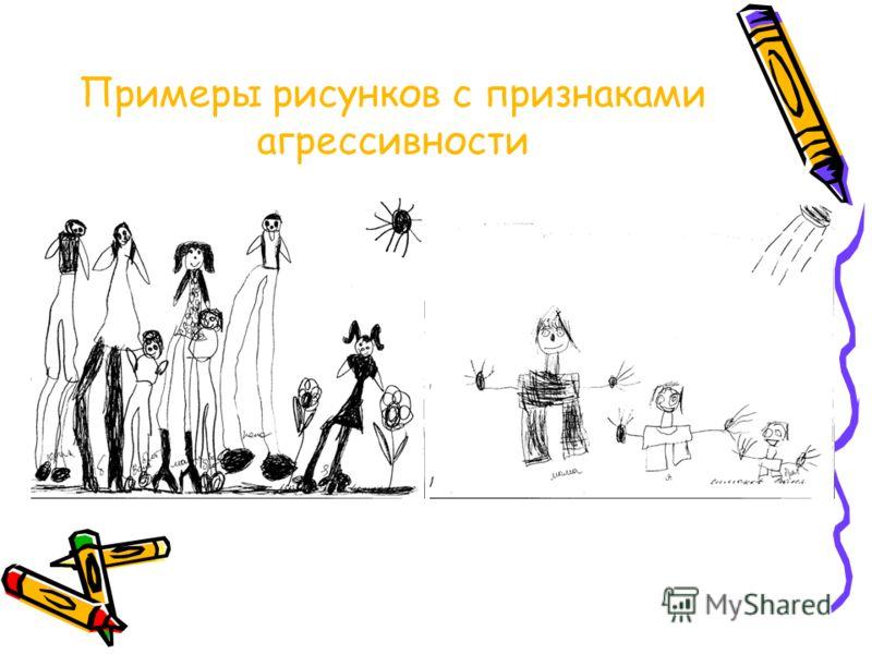 Детские рисунки с агрессией