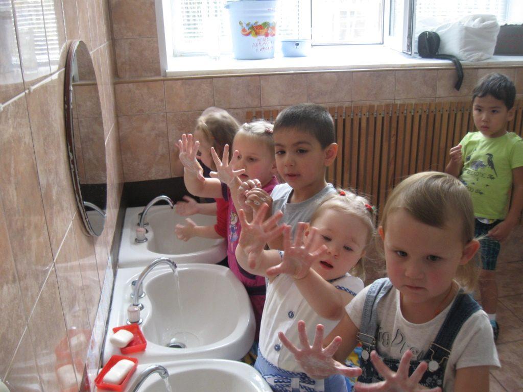 Обучение гигиене в деском саду