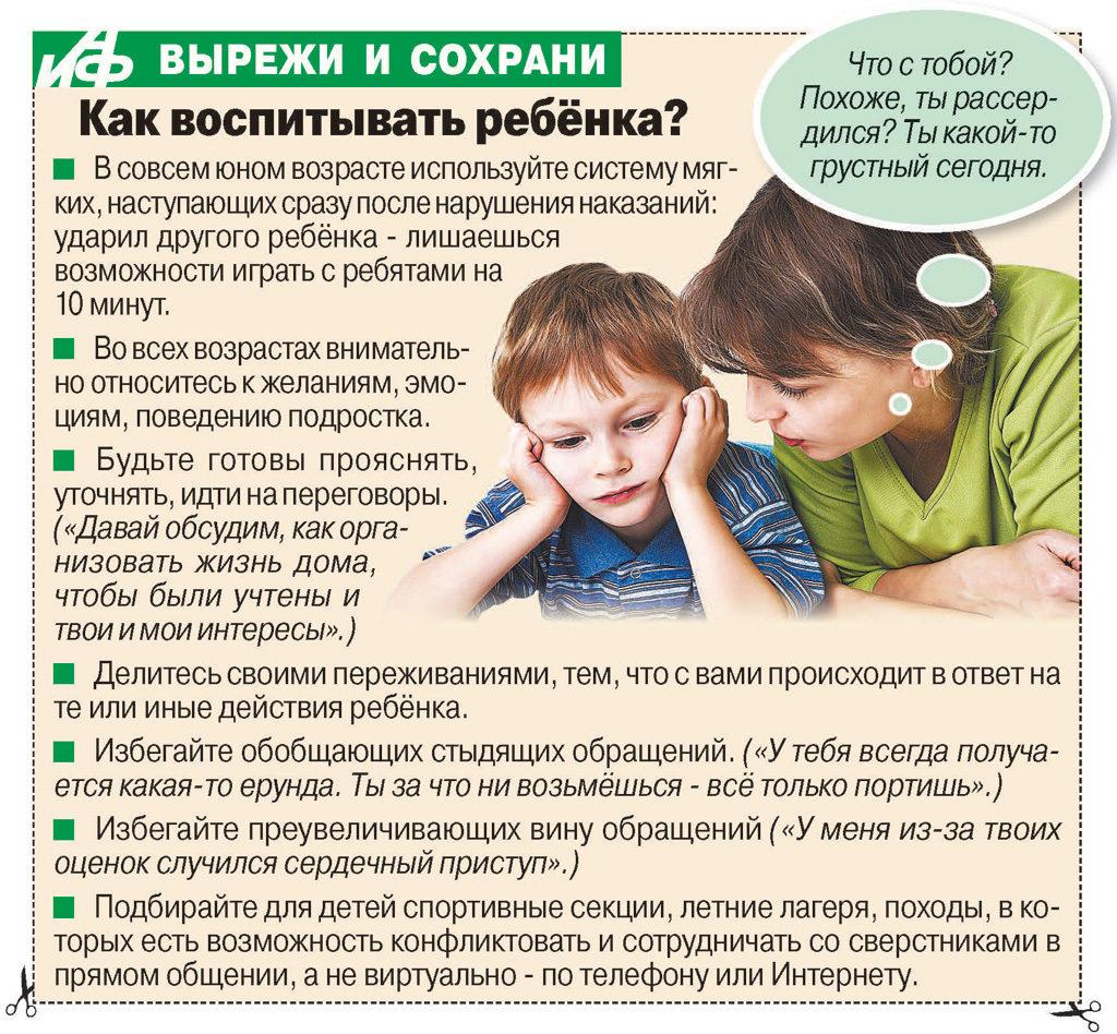 Советы родителям по воспитанию