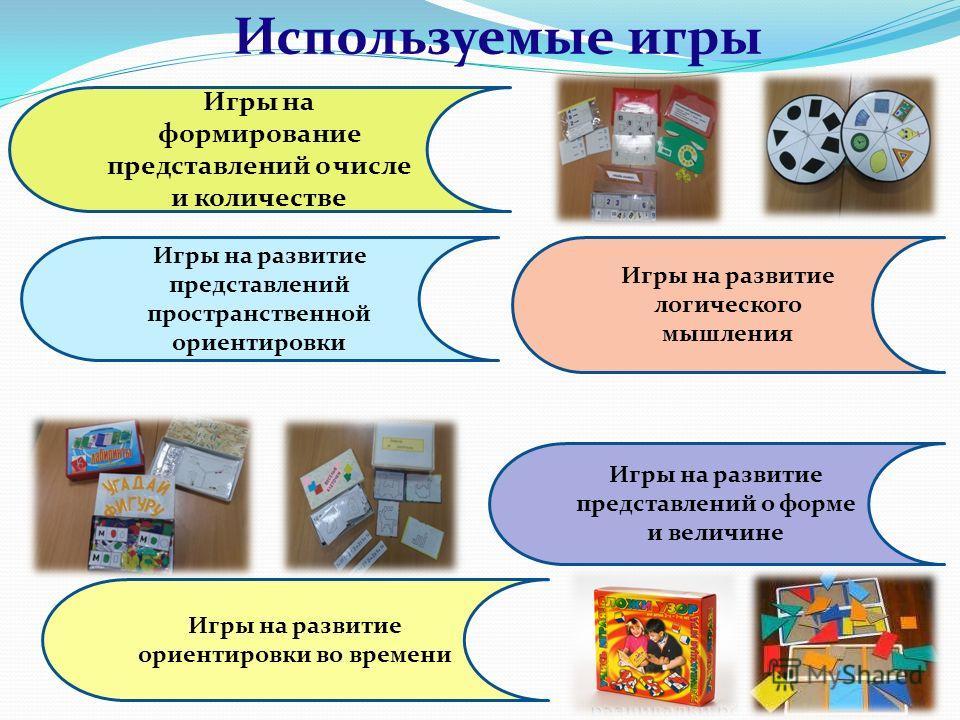 Используемые игры на математическое развитие