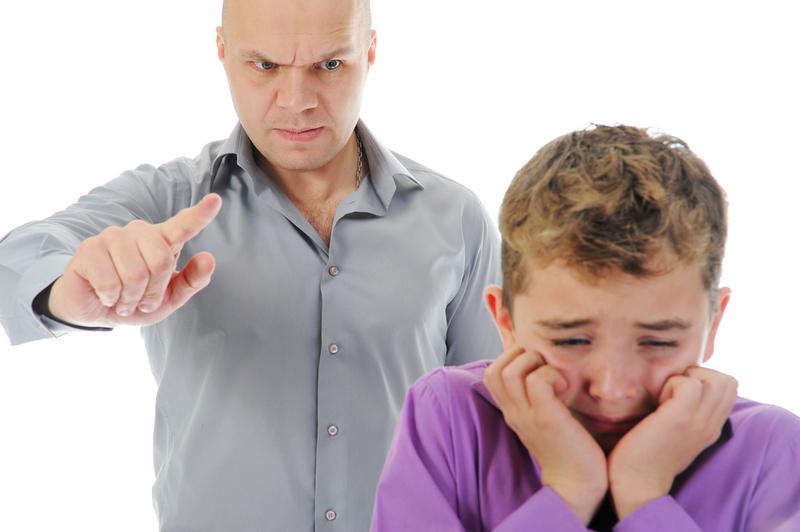 Строгое наказание ребенка