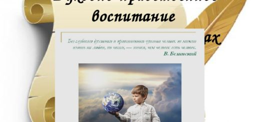 Роль духовно-нравственного воспитания - цитата