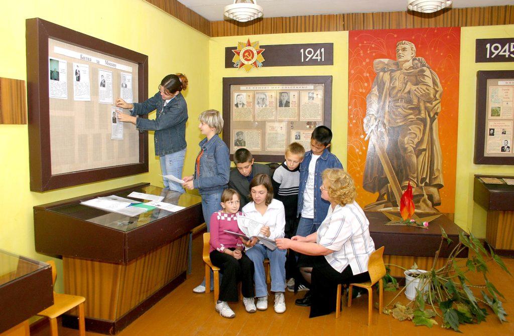 Занятие с классом в музее