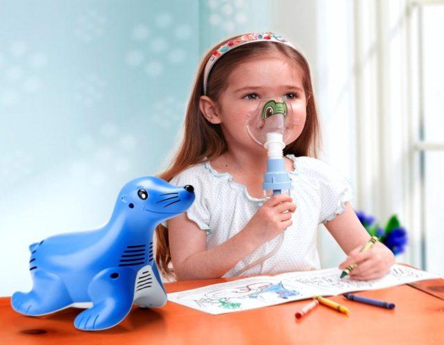 Ингаляция от кашля для детей