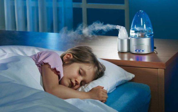 Увлажнение воздуха смягчает ночной кашель