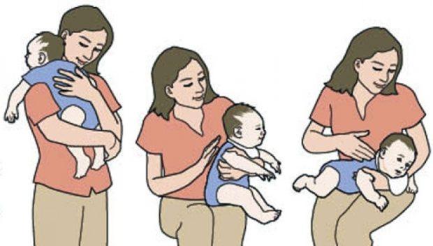 Как сделать чтобы малыш срыгнул