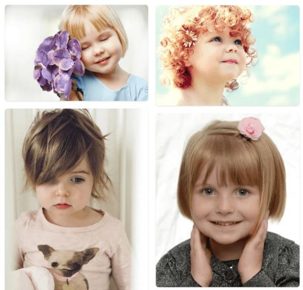 Детские прически на длинные и короткие волосы