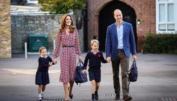 Первый день принцессы Шарлотты в школе (видео)