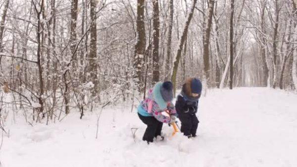 Поиск клада в снегу