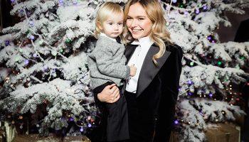 Новогодние сказки начались — Стефания Маликова впервые вышла в свет с младшим братиком