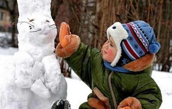 Лепка из снега