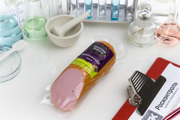 Колбаса вареная Докторская, производитель «Заповедные продукты»