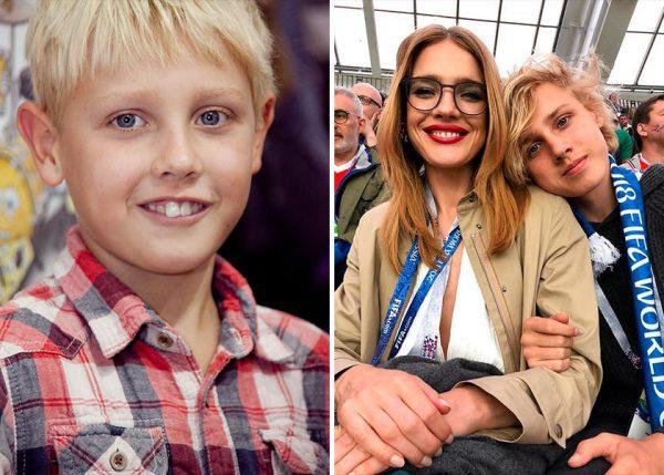 Водянова с сыном