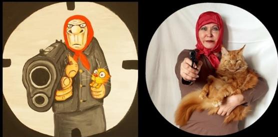 """Вася Ложкин """"Бабушка с пистолетом Пикабу""""."""