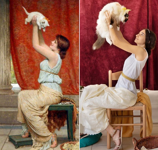 """Перуджини """"Портрет жены с котенком"""""""