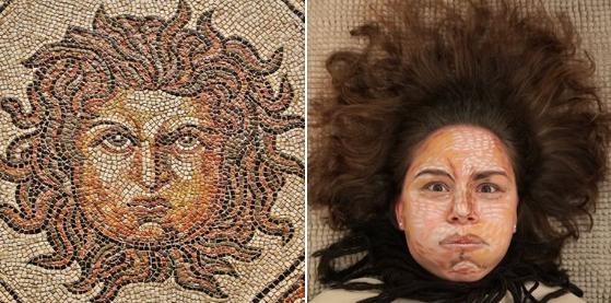 Медуза Горгона. Римская мозаика.