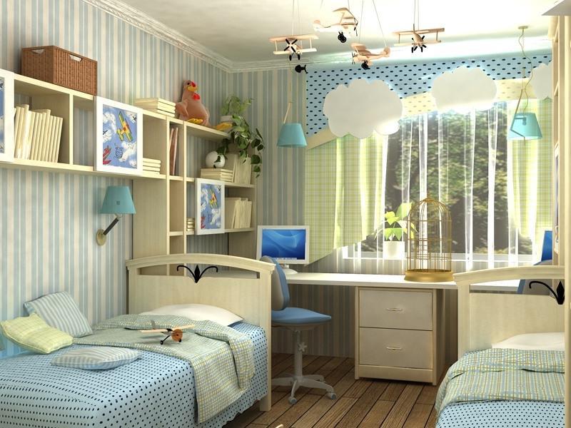 Идея оформления детской комнаты для разнополых детей6