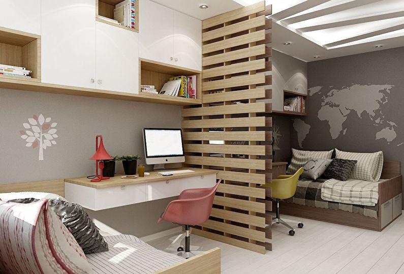 Идея оформления детской комнаты для разнополых детей5