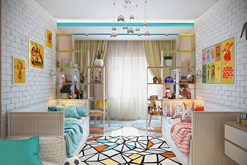 Идея оформления детской комнаты для разнополых детей4