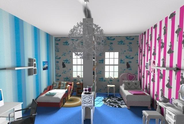 Цветовая гамма детской комнаты для разнополых детей
