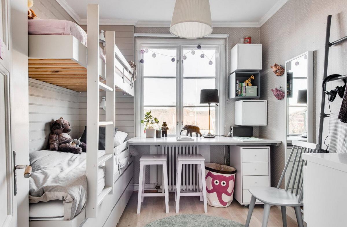 Идея оформления детской комнаты для разнополых детей9