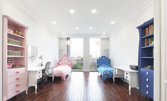 Идея оформления детской комнаты для разнополых детей7