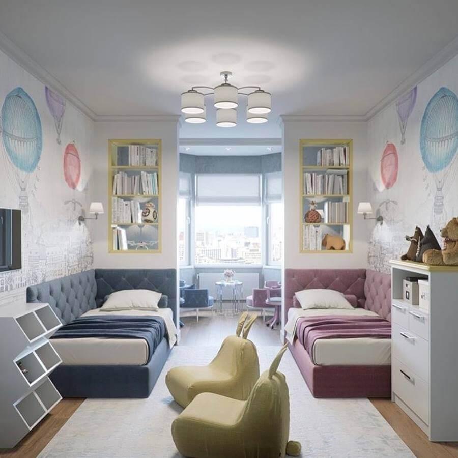 Идея оформления детской комнаты для разнополых детей12