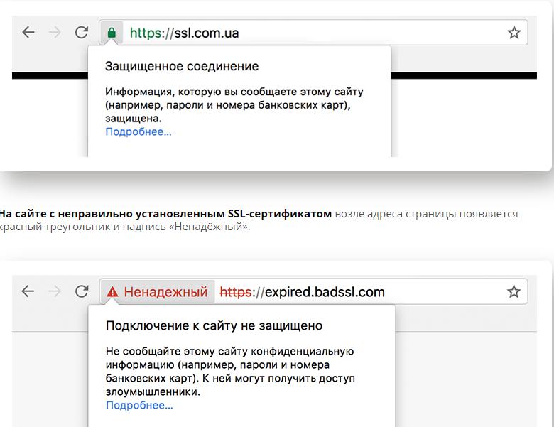 Пример защищенного сайта