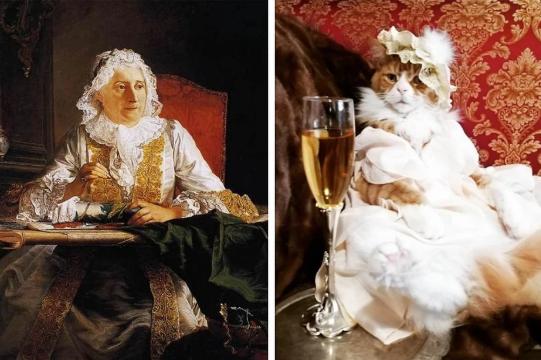 """Жак Андре Жозеф Авед """"Портрет пожилой женщины"""", XVIII век"""