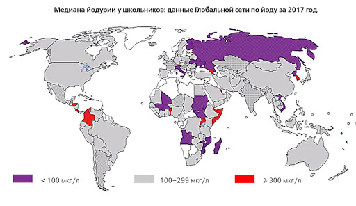 Карта йододефицита