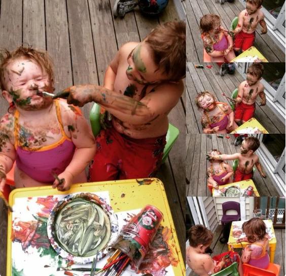 Юные таланты и их художественные шедевры - 25 фото для ценителей искусства