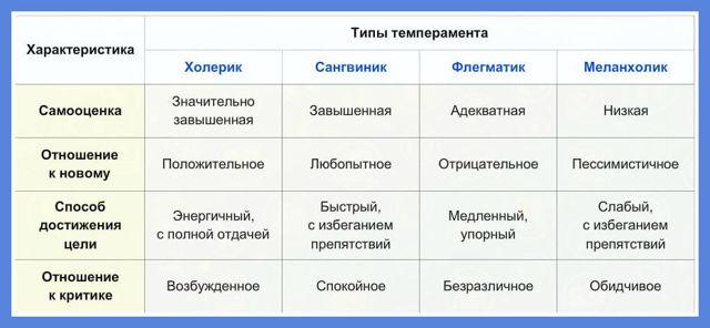 черты темперамента1
