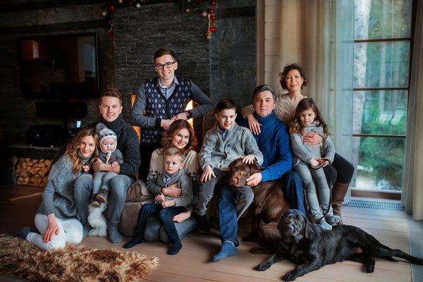 Вся семья на одном фото