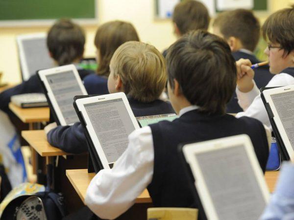 В школе электронные книги