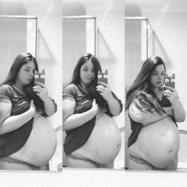 Хлои во время четвертой беременности