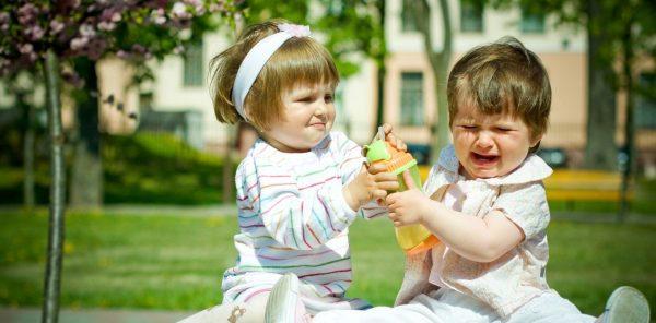 Дети дерутся за игрушку