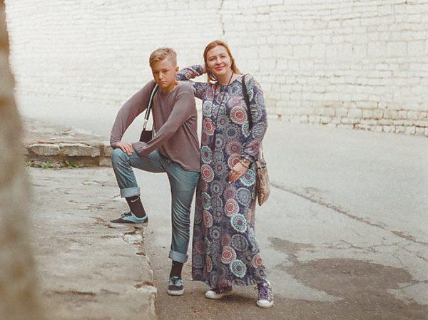 Ирина Полякова с сыном