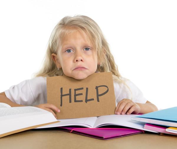 Девочка просит помощи в учёбе
