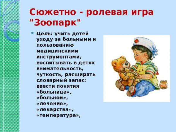 """Сюжетно-ролевая игра """"Зоопрак"""""""