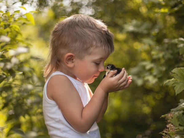 Мальчик с птенцом