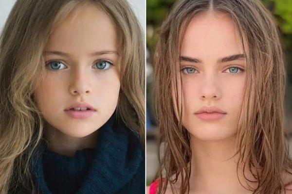 Кристина Пименова в детстве и сейчас